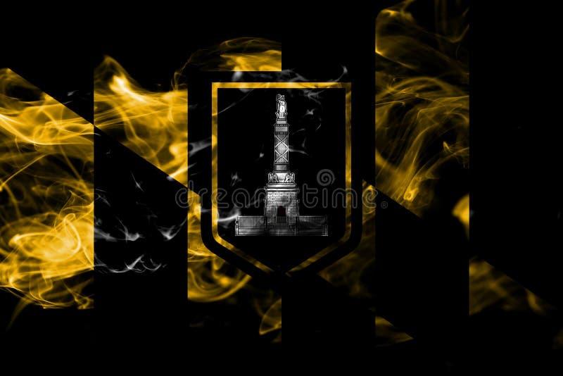 Baltimore miasta dymu flaga, Maryland stan, Stany Zjednoczone Amer royalty ilustracja