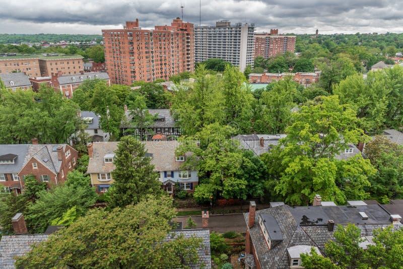 Baltimore-Nachbarschafts-Ansicht stockbilder