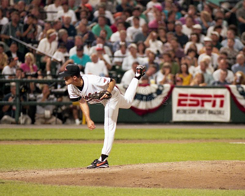 Baltimore Orioles Pitcher Mike Mussina, September 6, 1995.  royalty free stock photos