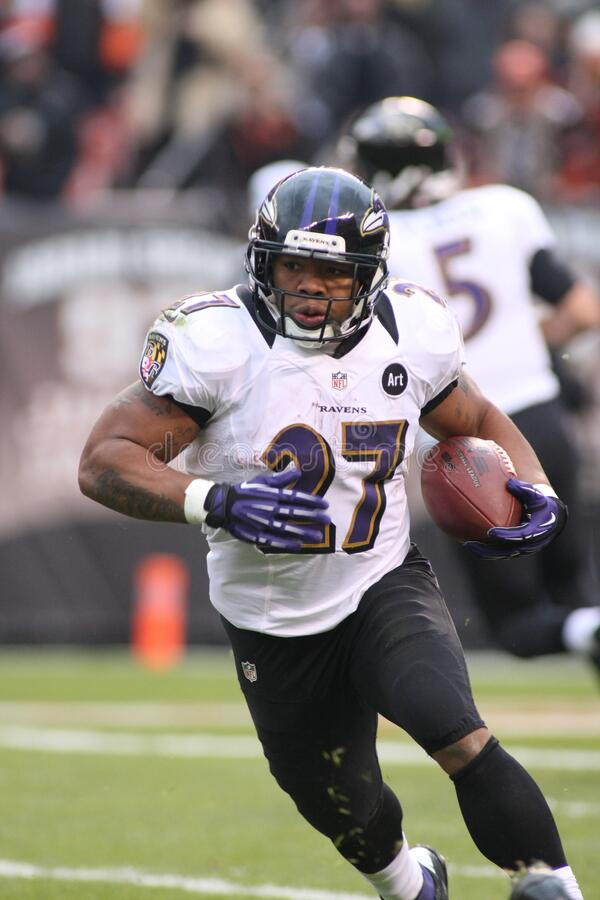 Ray Rice. Baltimore Ravens running back Ray Rice.  Image taken from color slide royalty free stock photos