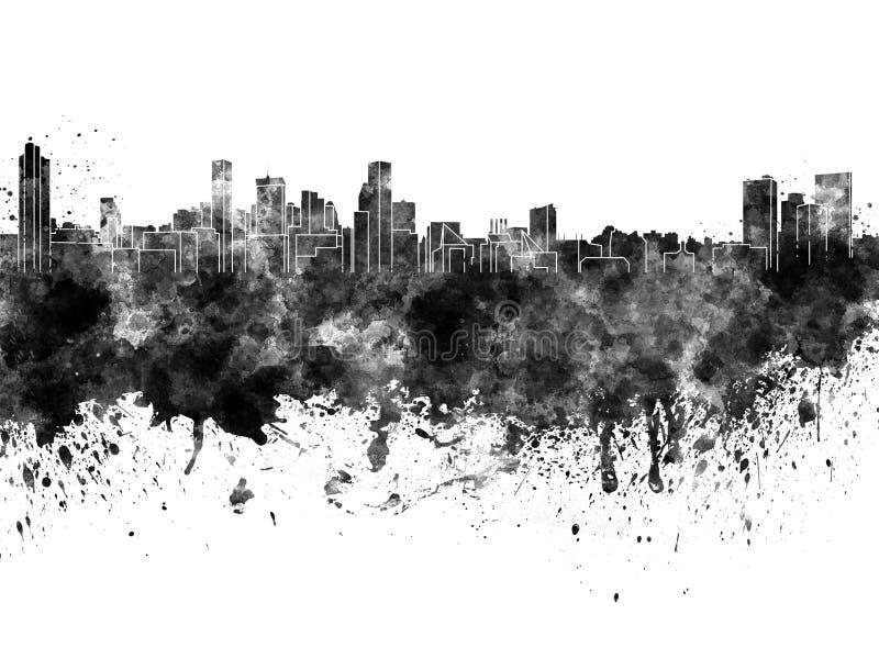 Baltimore-Skyline im schwarzen Aquarell vektor abbildung