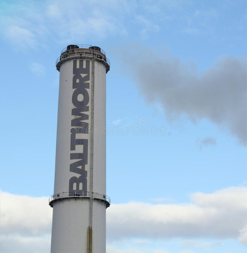 Free Baltimore Smokestack Royalty Free Stock Image - 23194746