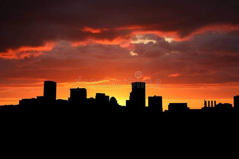 Baltimore am Sonnenuntergang vektor abbildung