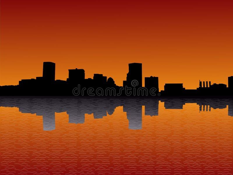 Baltimore am Sonnenuntergang lizenzfreie abbildung