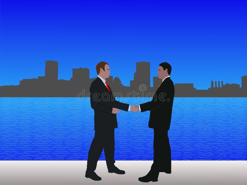 baltimore spotkania mężczyzna ilustracja wektor
