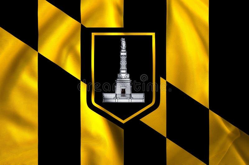 Baltimore-Stadtflaggenillustration lizenzfreie abbildung
