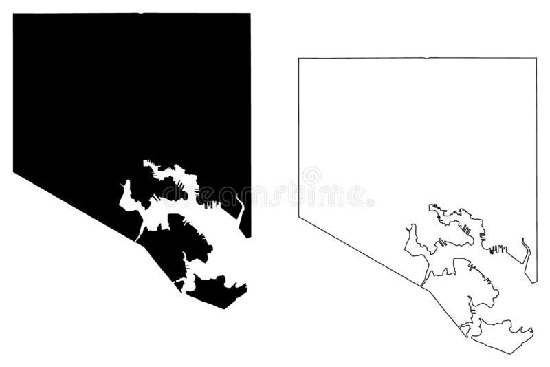 Baltimore-Stadtplanvektor lizenzfreie abbildung