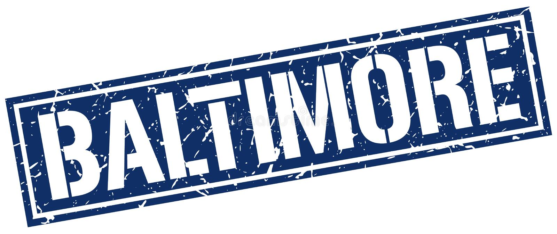 Baltimore-Stempel vektor abbildung