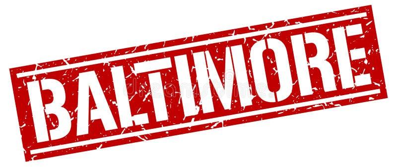 Baltimore-Stempel lizenzfreie abbildung