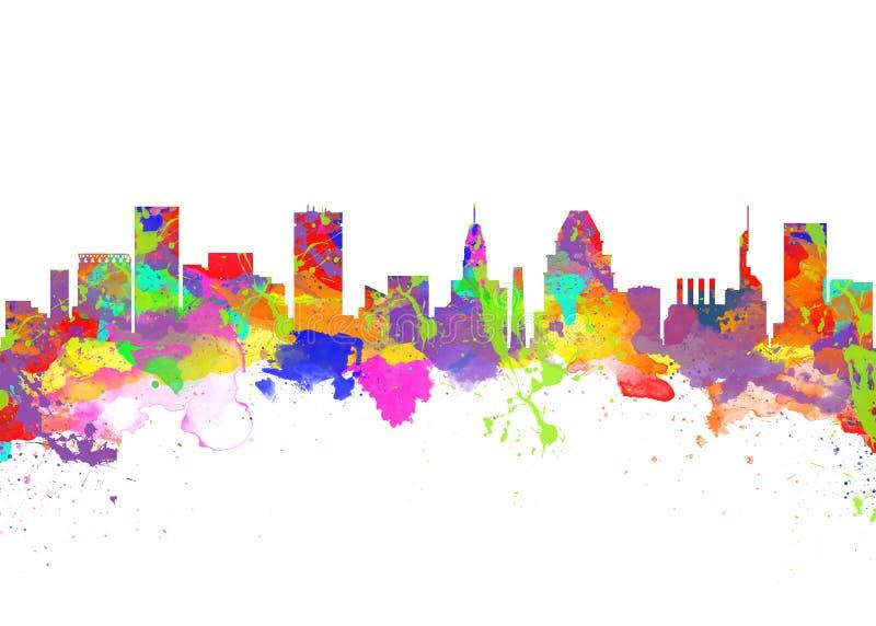 Baltimore usa ilustracji