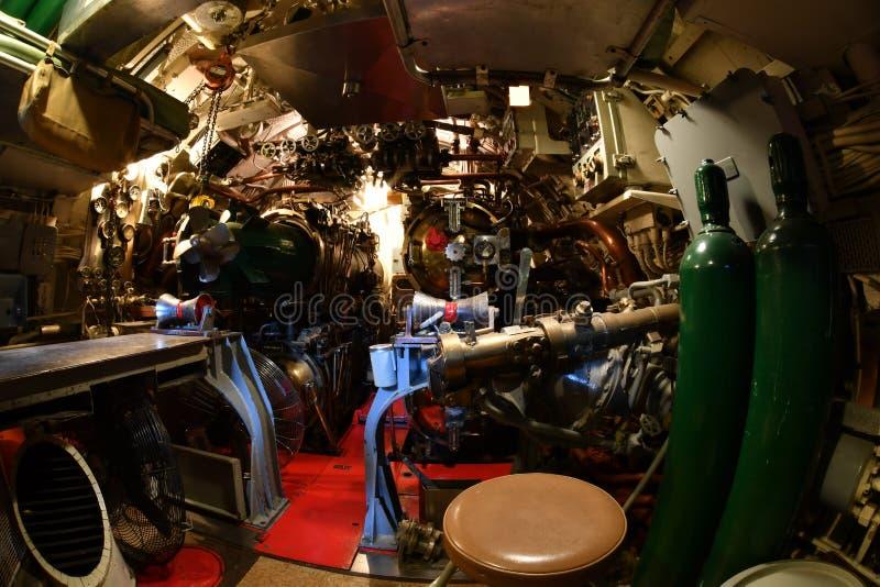 BALTIMORE, usa inside brozmy ii wojny światowa widoku szczegółu podwodny zakończenie up - CZERWIEC 21 2016 - zdjęcia stock