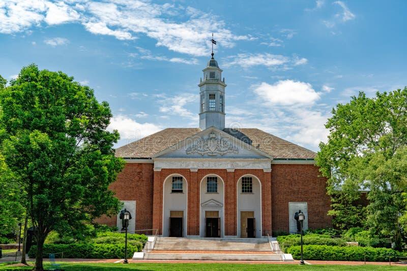 BALTIMORE USA - MAJ 21 2018 - john hopkinsuniversitet baltimore royaltyfria foton