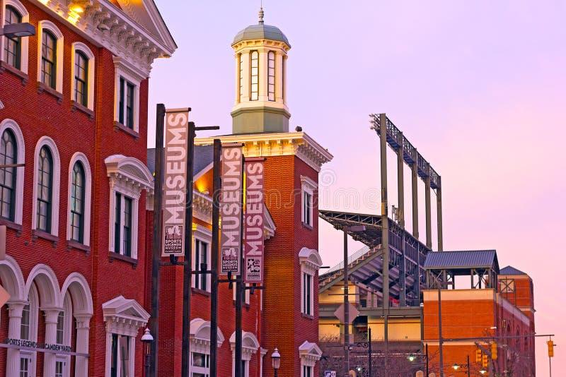 Baltimore, usa - Styczeń 31, 2014: Sport legendy Muzealne przy Camden jardami są niedochodowi sporty muzealni w Baltimore, Maryla obraz stock