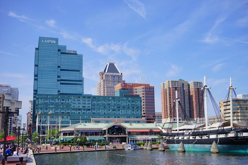 Baltimore w centrum budynek fotografia stock