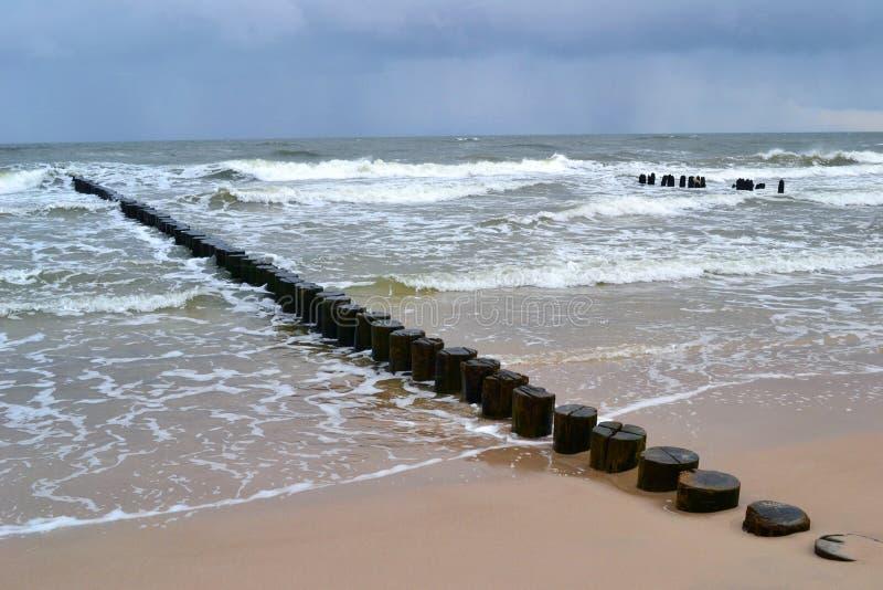 Baltische zeekust stock foto