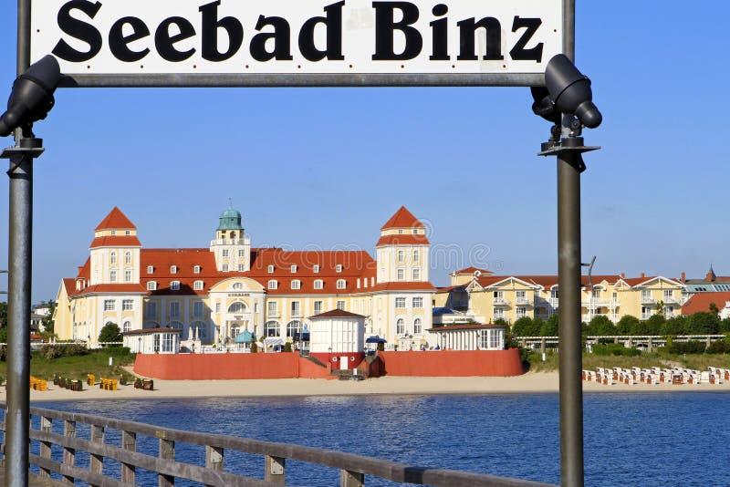 Baltisk badort i Binz på Ruegen, Östersjön, Tyskland fotografering för bildbyråer