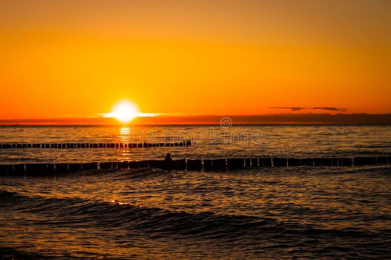 baltisk near havssometheresolnedgång tallinn fotografering för bildbyråer