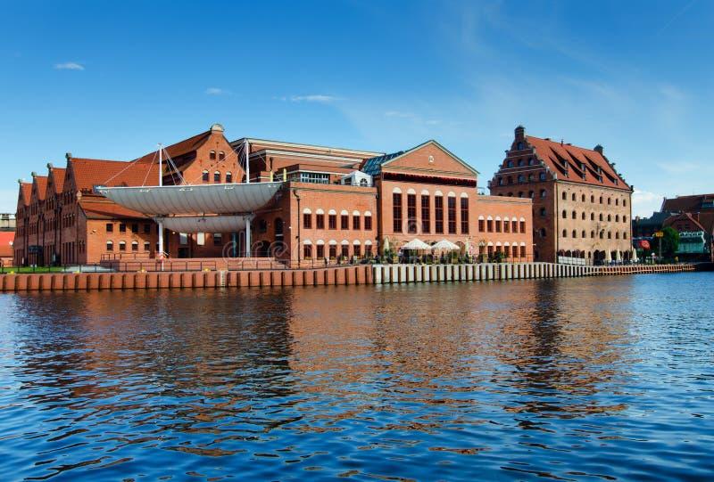Baltiskt filharmoniskt i Gdansk, Polen royaltyfri bild