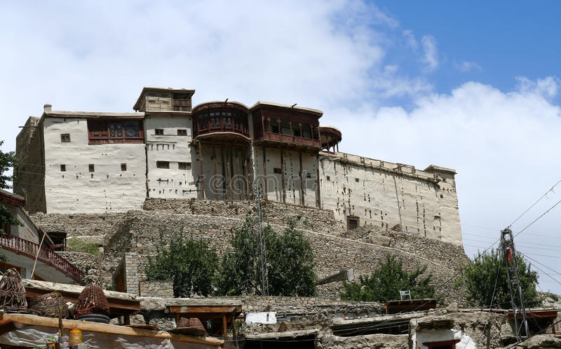 Baltit Fort. Balti ( Baltit ) Fort - an ancient fort in the Hunza valley in Gilgit, Baltistan, Pakistan stock image