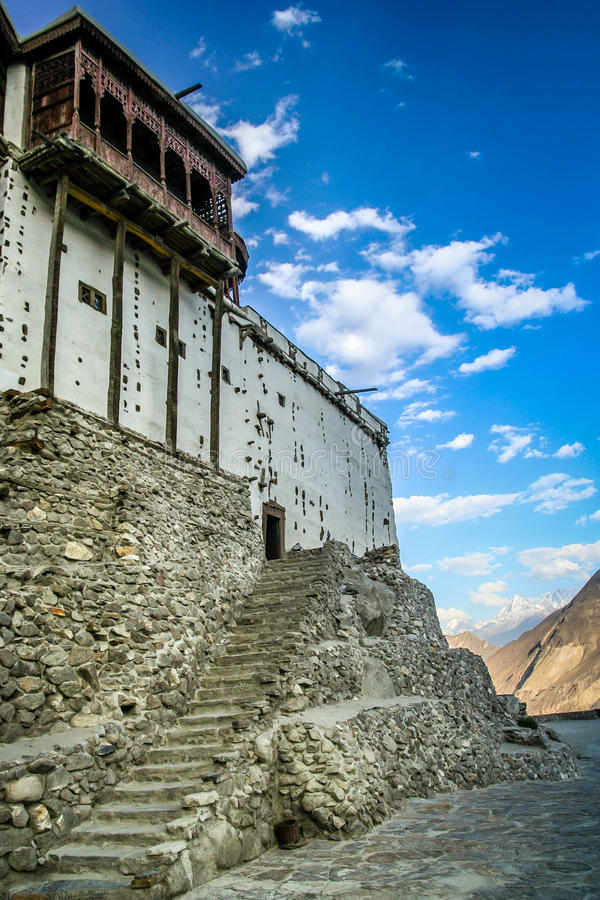 Baltit Fort. Balti ( Baltit ) Fort - an ancient fort in the Hunza valley in Karimabad, Baltistan, Pakistan stock image