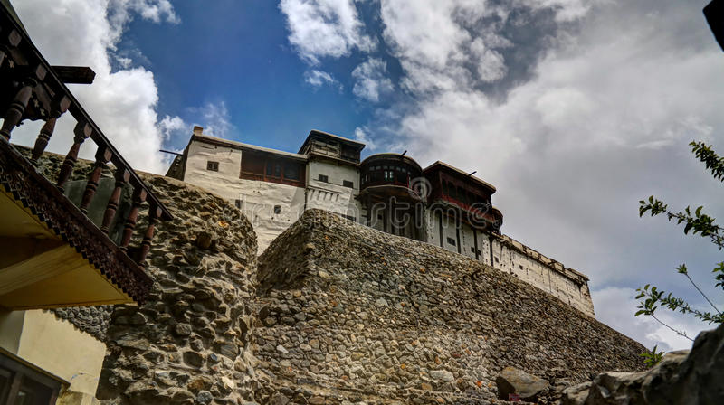 Baltit fort in Karimabad, Hunza valley Pakistan stock image