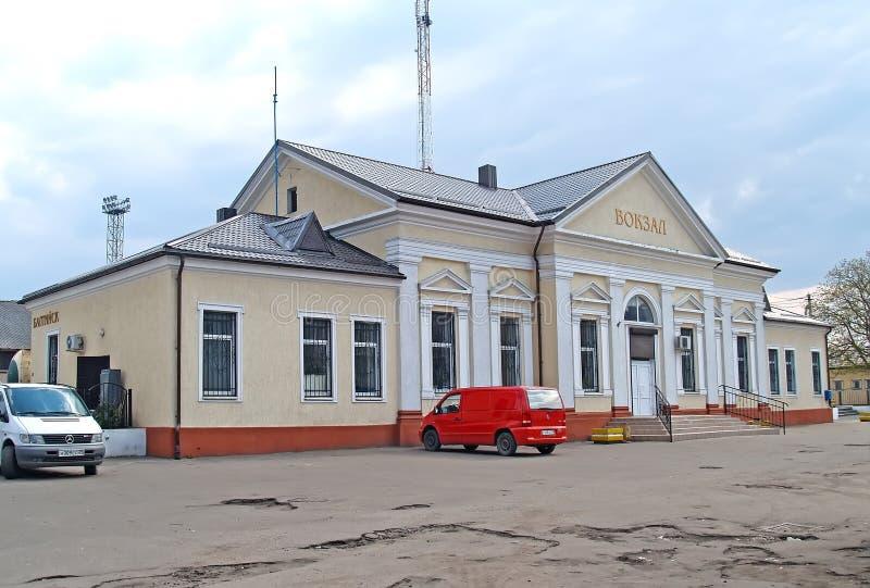 Baltiysk, Россия Здание железнодорожного statiion стоковые фото