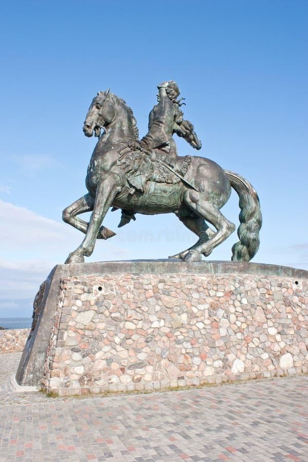 BALTIYSK, RUSSIA - 18 settembre 2008: Monumento all'imperatrice Elisab fotografia stock