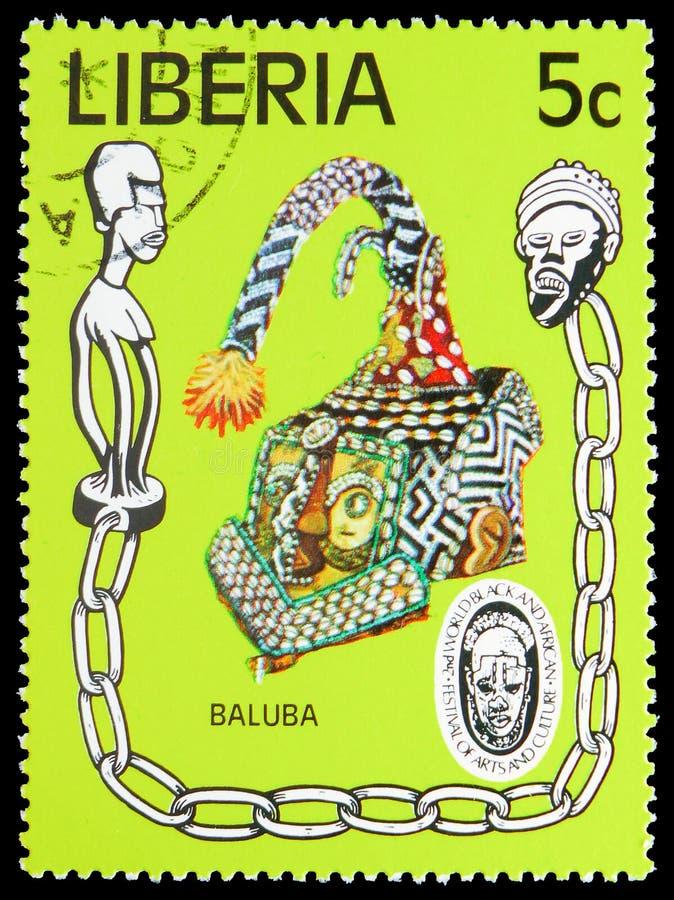 Baluba, het 2de Wereld Zwarte en Afrikaanse Festival van Kunsten en Cultuur serie, circa 1977 royalty-vrije stock foto's