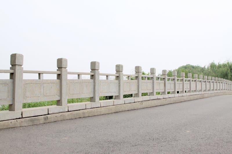 Baluster de pedra da ponte foto de stock royalty free