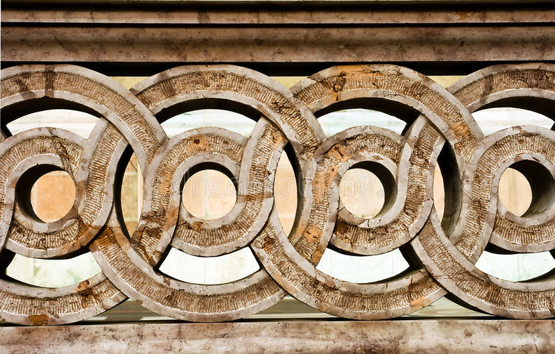 Baluster de pedra de esboço fotografia de stock
