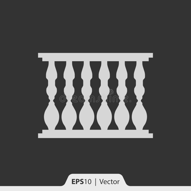 Balusterpictogram voor Web en mobiel royalty-vrije stock afbeelding