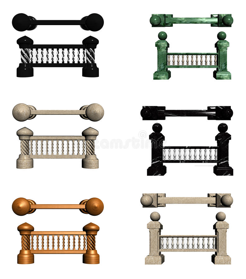 Download Balusters with columns stock illustration. Image of element - 22065331