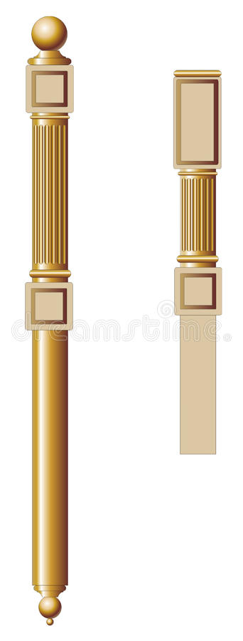 Balusters for staircase royalty free stock images