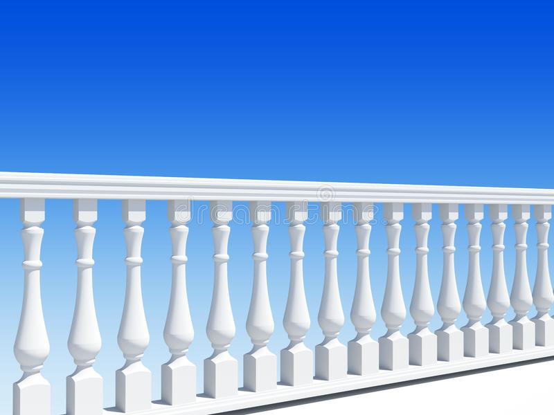 Download Balustrade stock illustration. Illustration of railing - 14669825