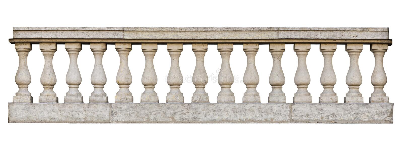 Balustrade baroque photos stock