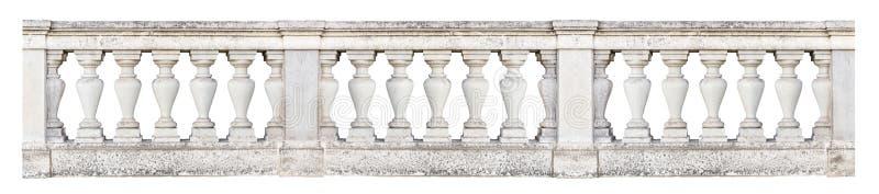 Balustrade baroque d'isolement sur le fond blanc image libre de droits
