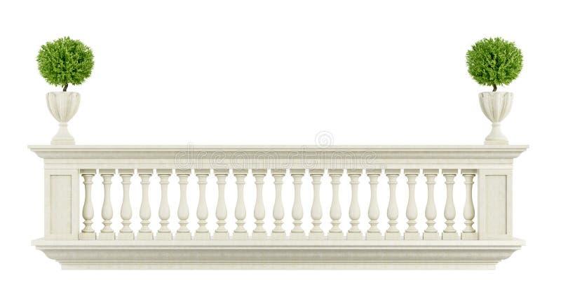 balustrade classique de balcon illustration stock illustration du vieux pierre 45723379. Black Bedroom Furniture Sets. Home Design Ideas