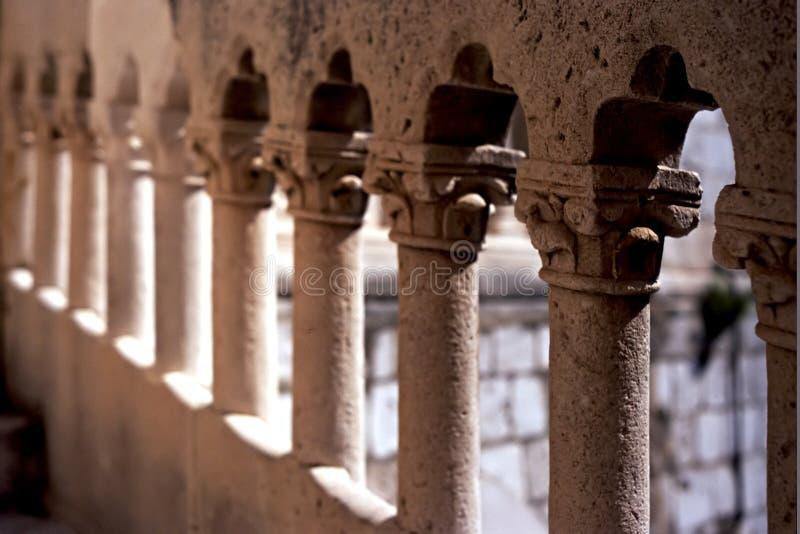 Balustrade, Dubrovnik stockfotos