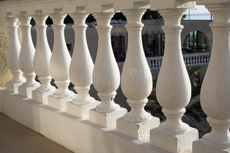 Balustrade grecque de type image stock