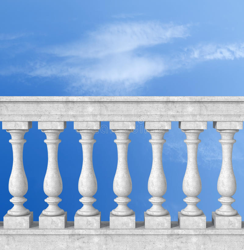 Free Balustrade With Pillar Royalty Free Stock Images - 18610069