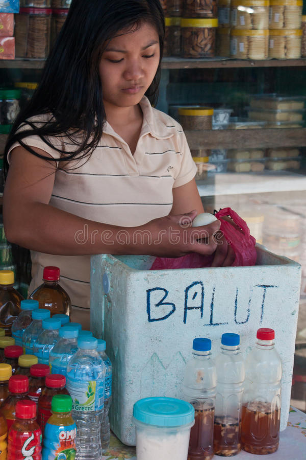 Balut - spécialité philippine image libre de droits
