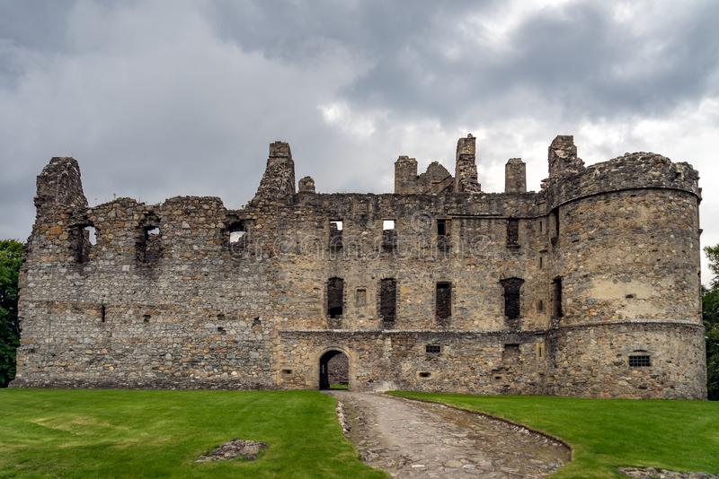 Balvenie Castle at Dufftown in Scotland royalty free stock photography