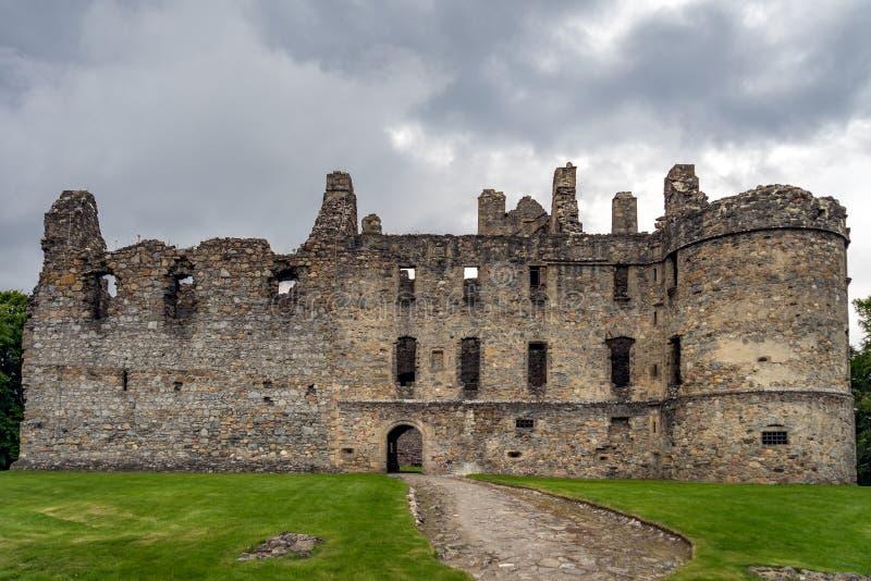 Balvenie-Schloss bei Dufftown in Schottland lizenzfreie stockfotografie