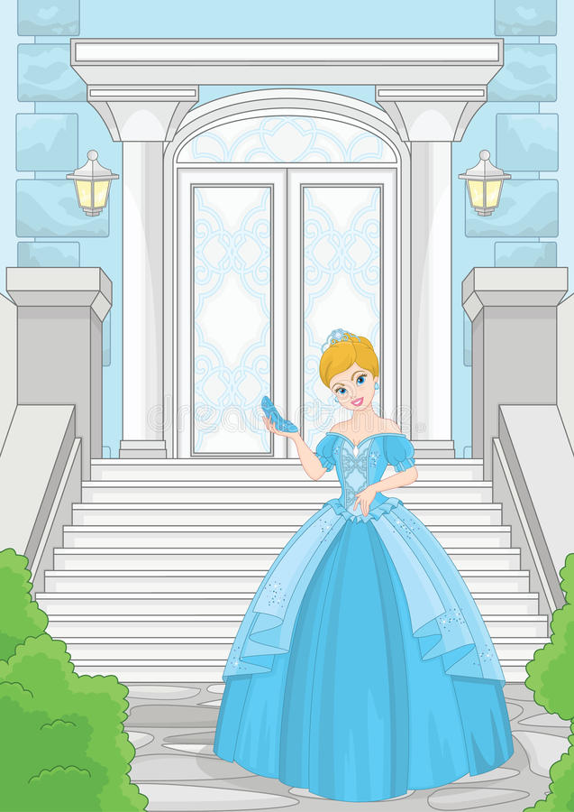 Balzaal Cinderella Stone Magic Staircase vector illustratie