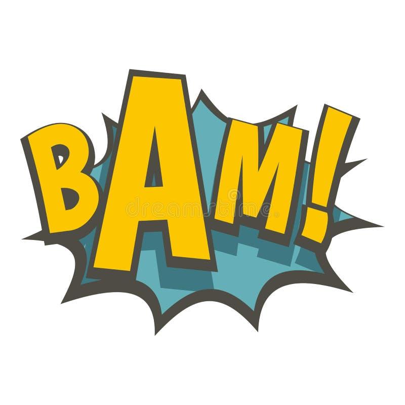 BAM, ícone da explosão da banda desenhada ilustração do vetor