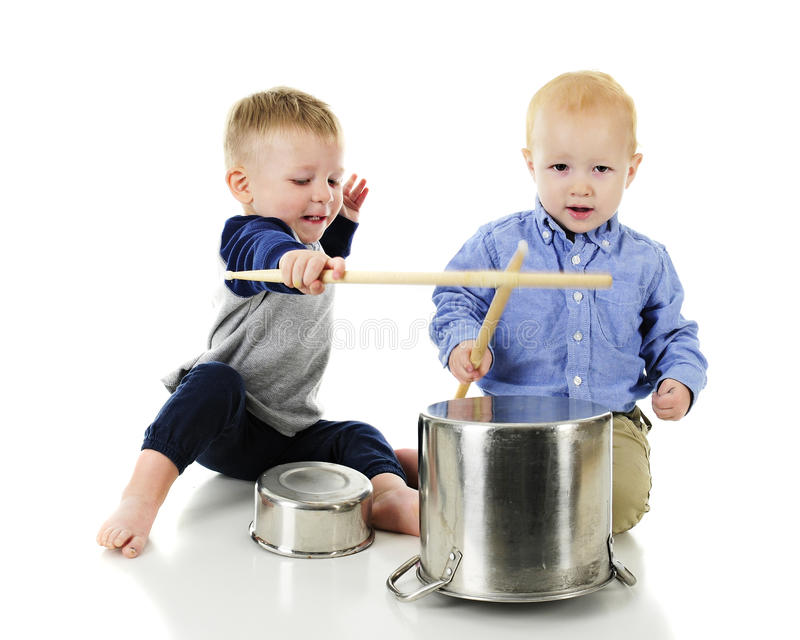 Bam, Bam on the Pots and Pans royalty free stock photos