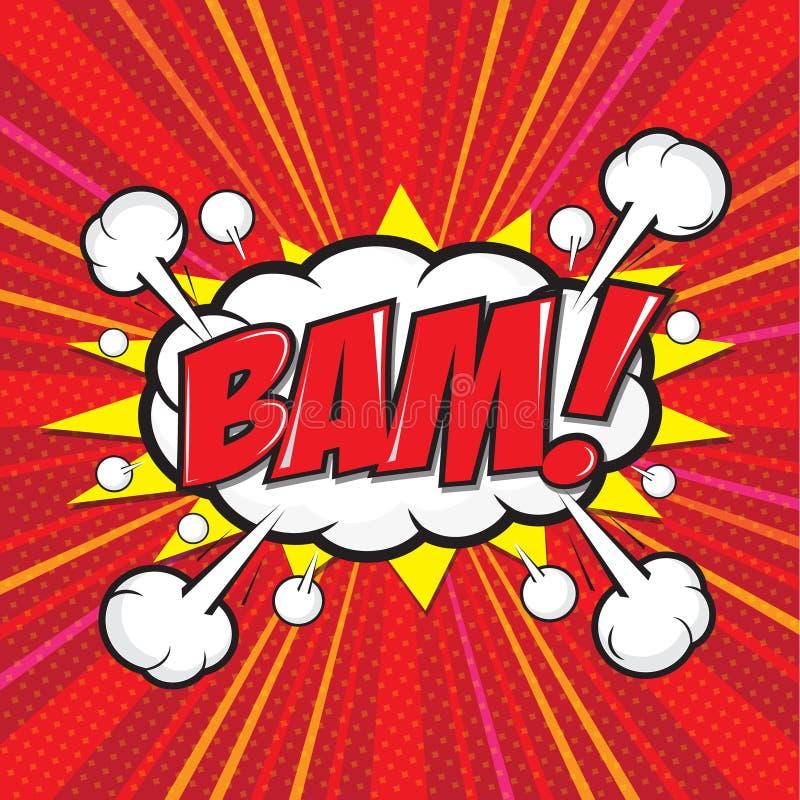 BAM! grappig woord vector illustratie