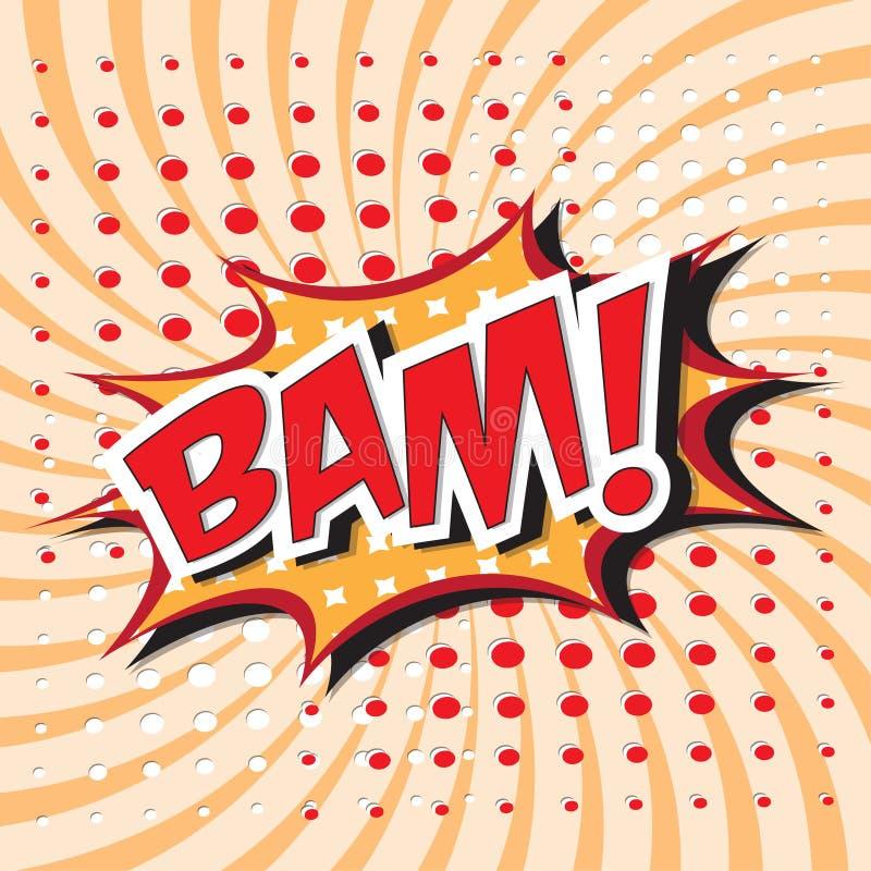 Bam ! mot comique illustration stock