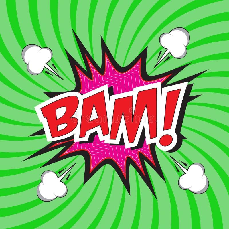 BAM! palavra cômica ilustração stock