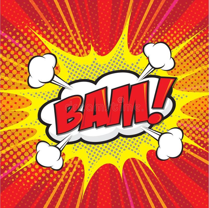 BAM! palavra cômica ilustração do vetor